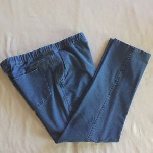 Denim & Co Elastic Waist Ankle Jean